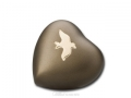 Avondale Russet Brown Brass Heart Cremation Memento