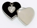 Elegante Heart with Silver Finish Cremation Pendant