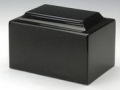 Black Cultured Marble Cremation Urn