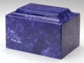 Cobalt Cultured Marble Cremation Urn